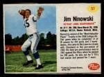 1962 Post #57  Jim Ninowski  Front Thumbnail