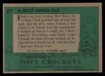 1956 Topps Davy Crockett Green Back #21   A Shot Rings Out  Back Thumbnail