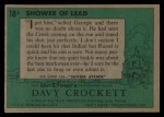 1956 Topps Davy Crockett Green Back #18   Shower of Lead  Back Thumbnail