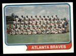 1974 Topps #483   Braves Team Front Thumbnail