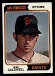 1974 Topps #344  Mike Caldwell  Front Thumbnail