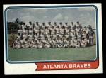 1974 Topps #483   Braves Team Front Thumbnail