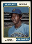 1974 Topps #497  Bobby Mitchell  Front Thumbnail