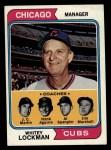 1974 Topps #354   -  Whitey Lockman / Hank Aguirre / Jim Marshall / J.C. Martin / Al Spangler Cubs Leaders   Front Thumbnail