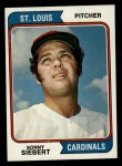 1974 Topps #548  Sonny Siebert  Front Thumbnail
