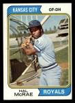 1974 Topps #563  Hal McRae  Front Thumbnail