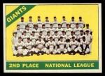 1966 Topps #19   Giants Team Front Thumbnail