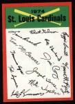1974 Topps Red Team Checklist   -     Cardinals Team Checklist Front Thumbnail