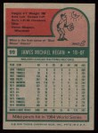 1975 Topps #99  Mike Hegan  Back Thumbnail