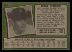 1971 Topps #251  Frank Reberger  Back Thumbnail