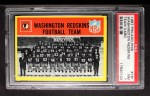 1967 Philadelphia #181  Washington Redskins  Front Thumbnail