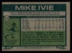 1977 Topps #325  Mike Ivie  Back Thumbnail
