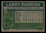 1977 Topps #526  Larry Parrish  Back Thumbnail
