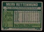 1977 Topps #659  Merv Rettenmund  Back Thumbnail