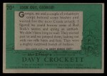 1956 Topps Davy Crockett #20 GEO  Ambush Back Thumbnail