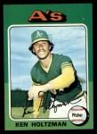 1975 Topps #145  Ken Holtzman  Front Thumbnail