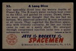 1951 Bowman Jets Rockets and Spacemen #53   Long Dive Back Thumbnail