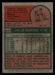 1975 Topps #424  John Lowenstein  Back Thumbnail
