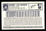 1973 Kellogg's #8  Bobby Bonds  Back Thumbnail