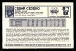 1973 Kellogg's #13  Cesar Cedeno  Back Thumbnail