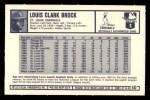 1973 Kellogg's #40  Lou Brock  Back Thumbnail
