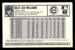 1973 Kellogg's #10  Billy Williams  Back Thumbnail