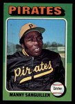 1975 Topps #515  Manny Sanguillen  Front Thumbnail