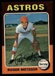 1975 Topps #541  Roger Metzger  Front Thumbnail