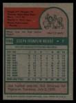1975 Topps #595  Joe Niekro  Back Thumbnail