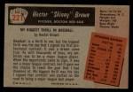 1955 Bowman #221  Hector Brown  Back Thumbnail