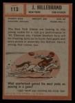 1962 Topps #113  Jerry Hillebrand  Back Thumbnail