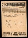 1959 Topps #49  Don Chandler  Back Thumbnail