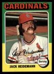 1975 Topps #649  Jack Heidemann  Front Thumbnail