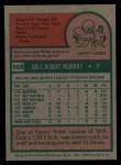 1975 Topps #568  Dale Murray  Back Thumbnail