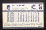1971 Kellogg's #61  Billy Williams  Back Thumbnail