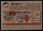 1958 Topps #315  Bob Friend  Back Thumbnail