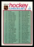 1975 Topps #99   Checklist Front Thumbnail