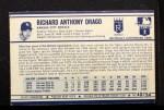 1972 Kellogg's #40  Dick Drago  Back Thumbnail