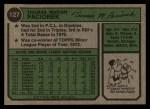 1974 Topps #127  Tom Paciorek  Back Thumbnail