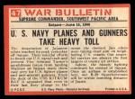 1965 Philadelphia War Bulletin #47   Flaming Meatball Back Thumbnail