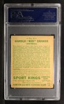 1933 Goudey,Sport,Kings,Sports #4  Red Grange   Back Thumbnail
