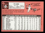 1969 Topps #442  Ty Cline  Back Thumbnail