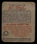 1949 Bowman #126 SCR Al Brazle  Back Thumbnail