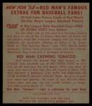 1953 Red Man #22 NL Murry Dickson  Back Thumbnail