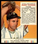1953 Red Man #22 NL Murry Dickson  Front Thumbnail