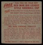 1955 Red Man #19 AL x Jackie Jensen  Back Thumbnail