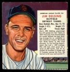 1954 Red Man #24 AL x Jim Delsing  Front Thumbnail