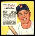 1955 Red Man #19 AL x Jackie Jensen  Front Thumbnail
