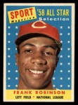 1958 Topps #484   -  Frank Robinson All-Star Front Thumbnail