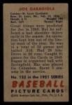 1951 Bowman #122  Joe Garagiola  Back Thumbnail